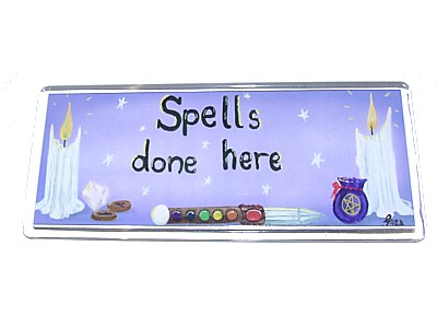 Spells Done Here Magnet