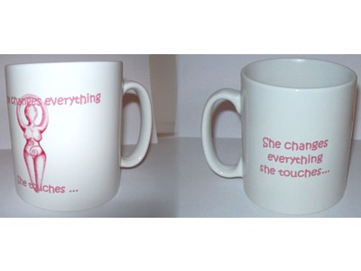 Goddess Inspiration Mug, She Changes Everything She Touches W