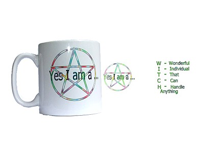 Yes I am a Witch Pentacle Mug (Wrap)
