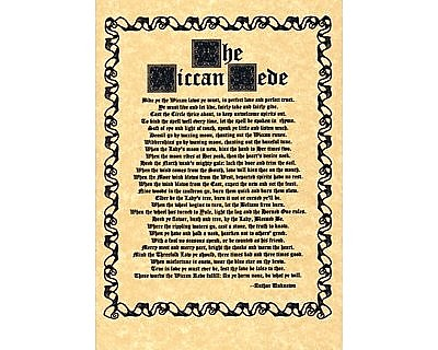 Wiccan Rede Poster Full Version