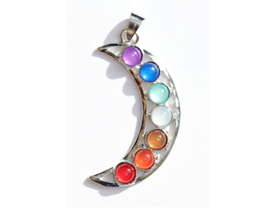 Chakra Moon Pendant : Pagan Wholesale, Pagan Wholesale,New Age