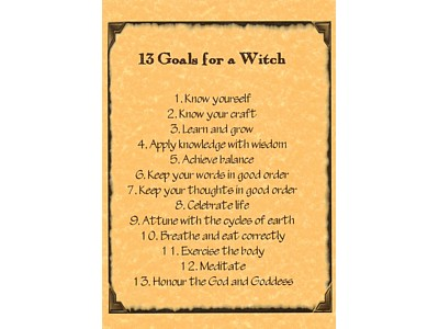 13 Goals for the Witch Poster