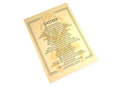 Father Spirit Prayer Poster