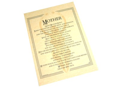 Mother Spirit Prayer Poster