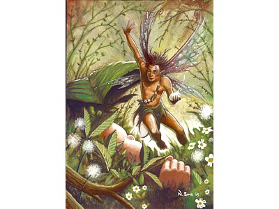Protector of Children Fairy Card A6