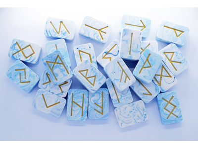 Marbled Runes - BLUE