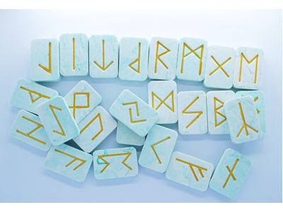 Marbled Runes - GREEN
