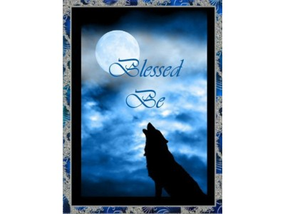 Wolf Moon Blessed Be Card A6
