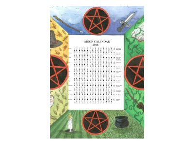 Four Pentacles Moon Calendar 2018