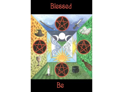 Blessed Be Elemental Card A6