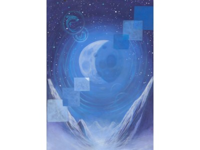 The Moon Card A6