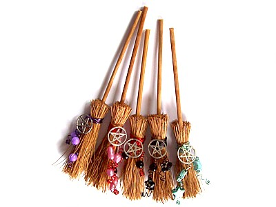 Hedgewitch Broomstick for Luck & Protection with Pentacle