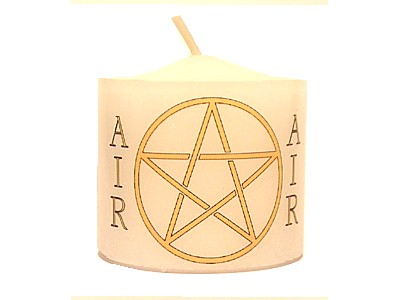 03.5cm Candle Element Pentacle Air