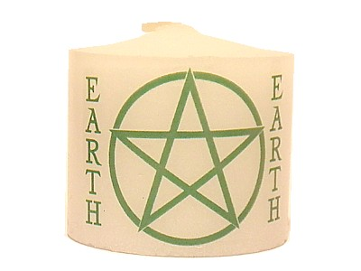 03.5cm Candle Element Pentacle Earth