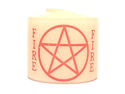 03.5cm Candle Element Pentacle Fire