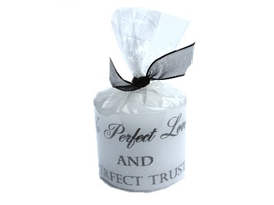 03.5cm Candle In Perfect Love and Perfect Trust
