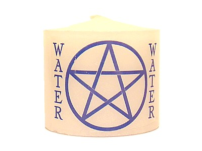03.5cm Candle Element Pentacle Water