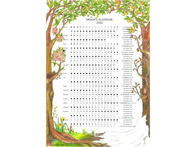 2020 Four Seasons A4 Moon Calendar