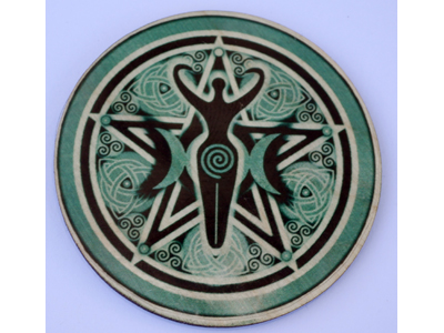 Altar Wooden Tile - Goddess Moons