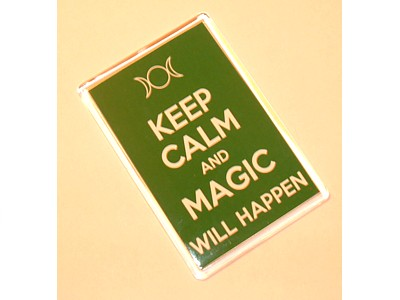 Keep Calm and Magic Will Happen Magnet