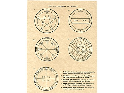 The Seven Pentacles of Mercury Poster
