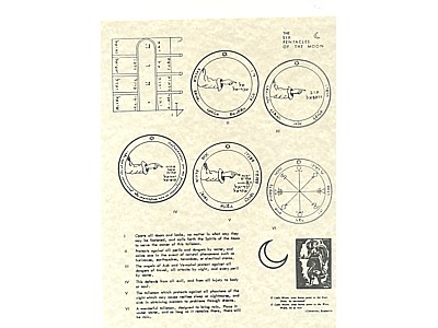 The Six Pentacle of the Moon Poster