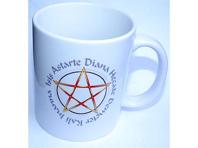 Goddess Names Pentagram Mug
