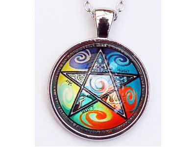 Pentagram Elements Pendant with chain