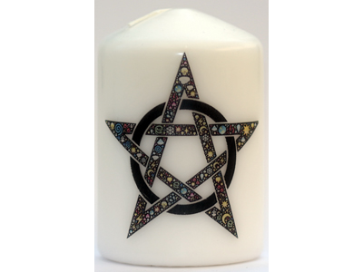 Celtic Pentagram Candle NEW SIZE see description