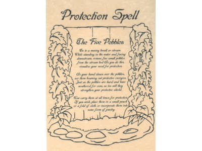 Protection Spell Poster NEW