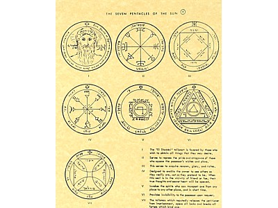 The Seven Pentacles of the Sun Poster