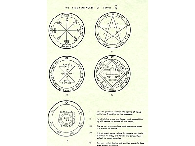 The Seven Pentacles of Venus Poster