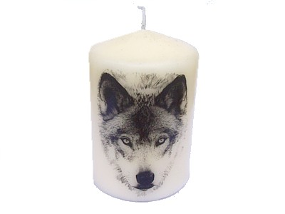 Wolf Candle NEW SIZE see description