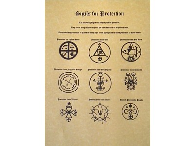 Sigils for Protection Poster : Pagan Wholesale, Pagan Wholesale,New